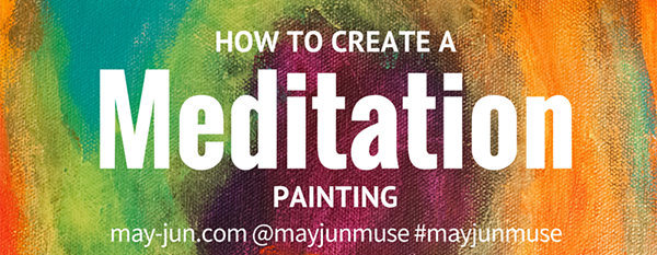 Meditation through abstract painting